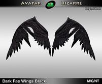 AB Dark Fae Wings Black