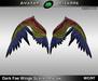 AB Dark Fae Wings Scarlet Macaw
