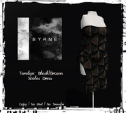 (BYRNE) Taralyn- Black/Brown Scales Dress MESH(BOX)