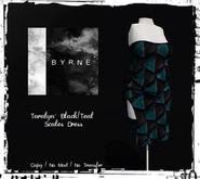 (BYRNE) Taralyn-Black/Teal Scales Dress MESH(BOX)