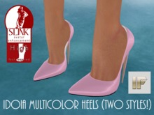 [IF] DEMO Idoia Multicolor Heels for Slink High Feet (Two styles!)
