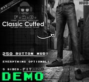 F.A.D. // Men's Classic Cuffed Jeans DEMO - Fitmesh/Materials