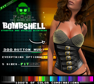 F.A.D. // Bombshell Studded Corset -  FitMesh/Materials