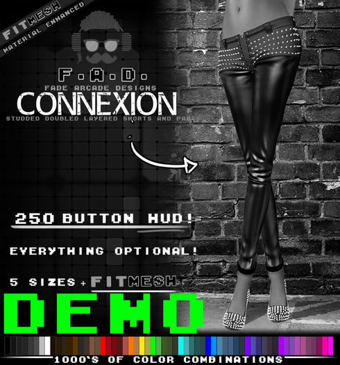 F.A.D. // Connexion Studded Leather Pants / Shorts DEMO - FitMesh/Materials
