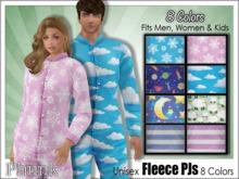 [Phunk] Mesh Fleece Pajamas (8 Colors)