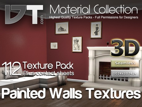 112 Painted Wall Textures - Edition 1 - Full Perm - DT Material Collection
