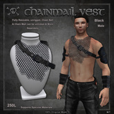 [The Forge] Chain Mail Vest, Male, Black