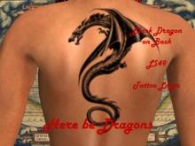 Black Dragon Back Tattoo