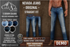 Nevada jeans   straight   original display demo