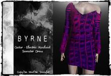 (BYRNE) Gator-Electric Koolaid  Sweater Dress MESH(BOX)