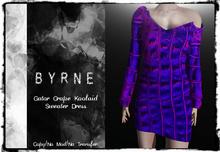 (BYRNE) Gator-Grape Koolaid Sweater Dress MESH(BOX)
