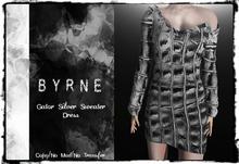 (BYRNE) Gator-Silver Sweater Dress MESH