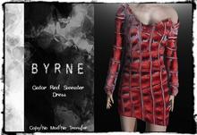 (BYRNE) Gator-Red Sweater Dress MESH(BOX)
