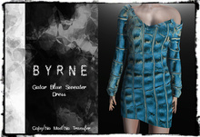 (BYRNE) Gator- Blue Sweater Dress MESH(BOX)