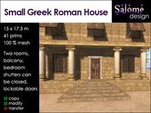 Small Greek Roman House Promo * Starter friendly * low prim * small size *