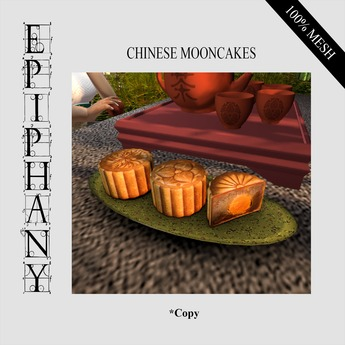 Discounted Chinese Traditional Mooncakes Animated (1 Prim, 100% Mesh)