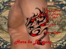Red & Black Dragon - Arm