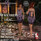 LC DESIGNS - NEWS DRESS W/SHOES - LILAC