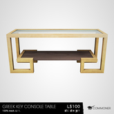 [Commoner] Greek Key Console Table
