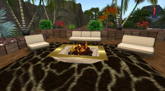 Second Life Marketplace Firepit With Rug