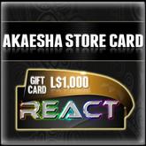 Akaesha's L$1500 Store Card  Gift Card