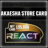 Akaesha's L$5000 Store Card Gift Card