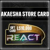 Akaesha's L$10000 Store Card Gift Card