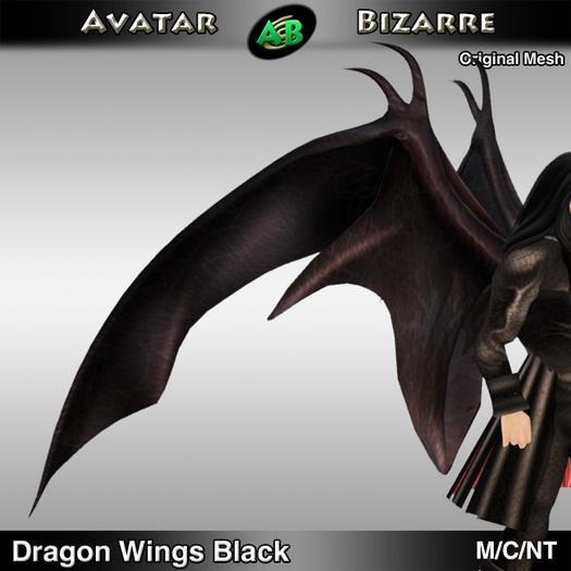 AB Dragon Wings (Estonian Whipwing) Black