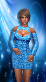 *PS* Blue Glitter Dress