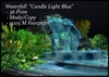 Waterfall Candle Light Blue  ( Cave Grotto Cavern )