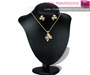 %50SUMMERSALE Full Perm MI Mesh Lucky Charm Necklace with Earrings Set