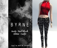 (BYRNE) Ande Red/Black Glitter Outfit