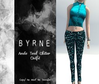 (BYRNE) Ande Teal Glitter Outfit