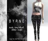 (BYRNE) Ande Grey/Black Glitter Outfit