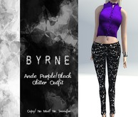 (BYRNE) Ande Purple/Black Glitter Outfit