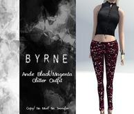 (BYRNE) Ande Black/Magenta Glitter Outfit