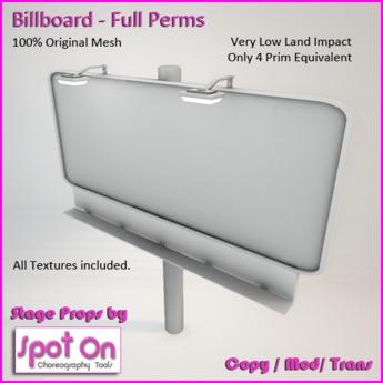 Spot On Billboard - Full Perms