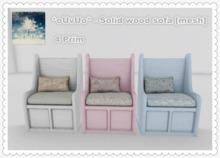 *oUvUo* - Solid wood sofa [mesh]