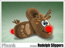 [Phunk] Unisex Rudolph Slippers