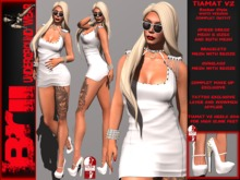 **TIAMAT WHITE VERSION ROCKER STYLE COMPLET OUTFIT** Brii **