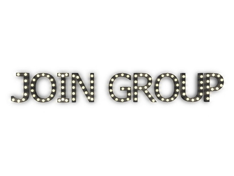 "Second Life Marketplace - [Px] ""JOIN GROUP"" Illuminated Light Bulbs Sign"