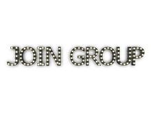"[Px] ""JOIN GROUP"" Illuminated Light Bulbs Sign"