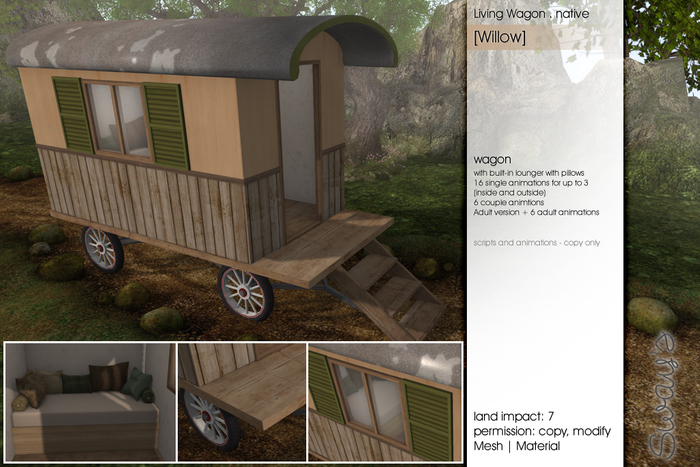 Sway's [Willow] Living Wagon . native/ PG
