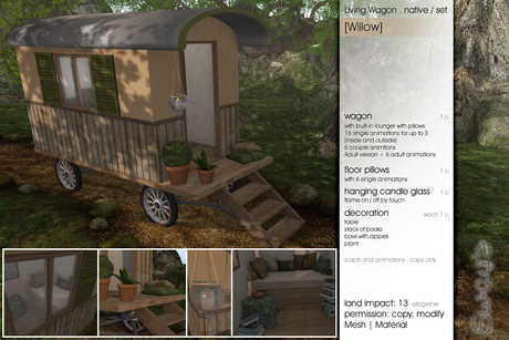 Sway's [Willow] Living Wagon Set . native / PG