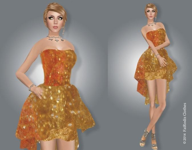 FaiRodis Honey Autumn Cocktail MESH dress