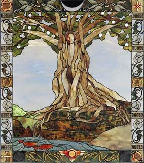 Tree Of Life Earth Mother Stained Gl