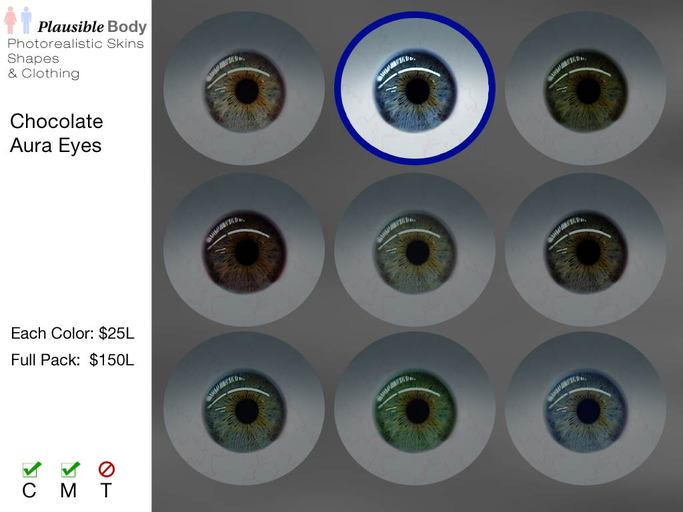 Chocolate Aura Eyes - Deep Blue