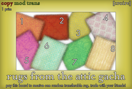 [croire] Rugs From The Attic (Fatpack/8 Pack) Hipster girly teen bright colorful rugs, stripes/dots/floral/paisley