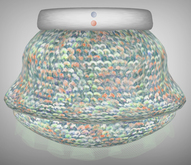 [croire] Petite Sequin Skirt (Icy Hot) (Sculpted skirt with color change belt & buttons) Cute girly hipster pretty teen