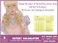 .:Buttery Toast:. Cutesy Calculator- Yellow